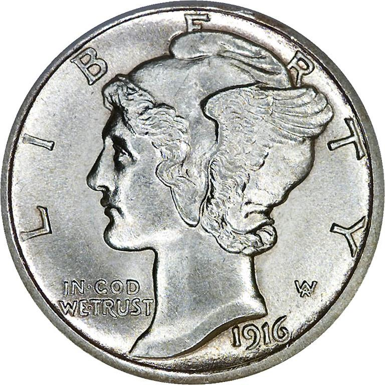1916 dime (Large)